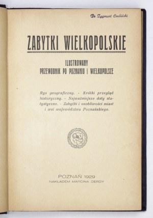 ZABYTKI wielkopolskie. Ilustrowany przewodnik po Poznaniu i Wielkopolsce. Poznań 1929. M. Derda. 8, s. 277, [1]....