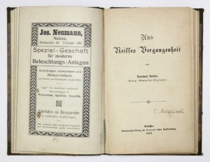 RUFFERT Bernhard - Kurze Chronik von Neisse. Zur Erinnerung an die XII. ordentliche Jahrestagung der Oberschles. Zone de...