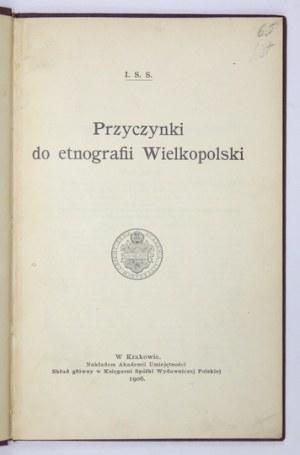 J. Szeptycka -Przyczynki do etnografii Wielkopolski. 1906.
