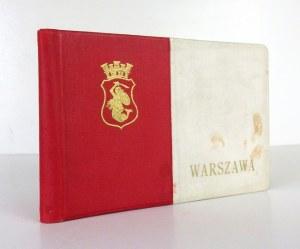 WARSZAWA. Warszawa [wczesne lata 20. XX w.?].Wydawnictwo K. Wojutyński. 16 podł., leporello, k. [46]. opr. oryg....