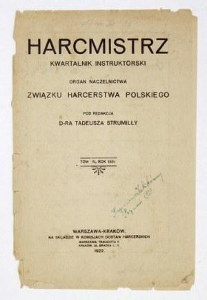 HARCMISTRZ. R. 4, R. 4, t. 4: 1921 - Zbiorcza karta tytułowa i spis treści.