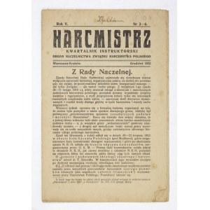 HARCMISTRZ. R. 5, nr 3-4: XII 1922.
