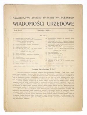WIADOMOŚCI Urzędowe. R. 1 (V), nr 4: IV 1923.