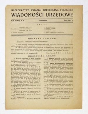 WIADOMOŚCI Urzędowe. R. 3 (VII), nr 2: II 1925.