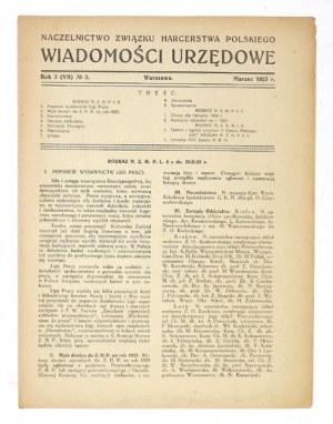 WIADOMOŚCI Urzędowe. R. 3 (VII), nr 3: III 1925.