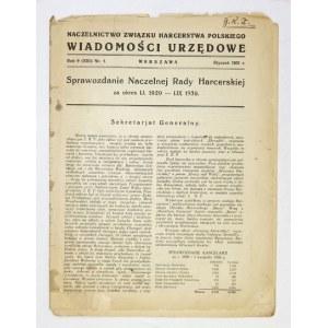 WIADOMOŚCI Urzędowe. R. 9 (XIII), nr 1: I 1931.