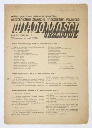 WIADOMOŚCI Urzędowe. R.16 (XVII), nr 1: I 1938.