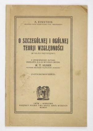 A. Einstein - O szczególnej i ogólnej teorji względności. 1921. Pierwsze polskie wydanie.