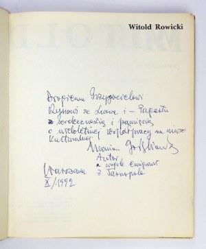 GOŁĘBIOWSKI M. – Witold Rowicki w Filharmonii Warszawskiej i Narodowej. Z dedykacją autora.