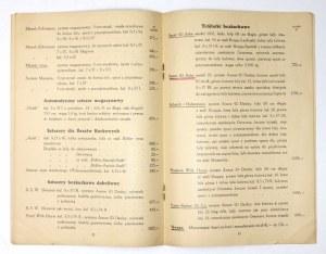 HOPPEN Fryderyk. Cennik broni - amunicji, przyborów myśliwskich i t.p. na rok 1938/39. Katowice, VIII 1938. 8, s....