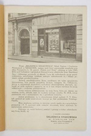 [SKŁADNICAKrakowska]. Cennik nr 39 B przyborów biurowych i materiałów piśmiennych. Składnica Krakowska,...