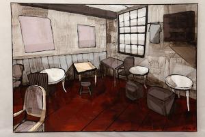 Anna Sikora, W pustej kawiarence, 2011