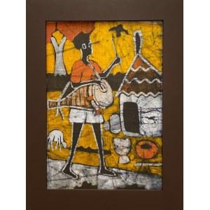 Ramata Cham, Mieszkaniec wioski grający na bębnie