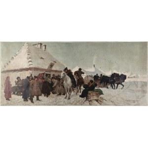 Józef CHEŁMOŃSKI  (1849-1914) - wg, Sprawa u wójta - reprodukcja;