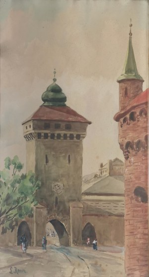 Ludwik REMER (1888-1979), Widok na Bramę Floriańską