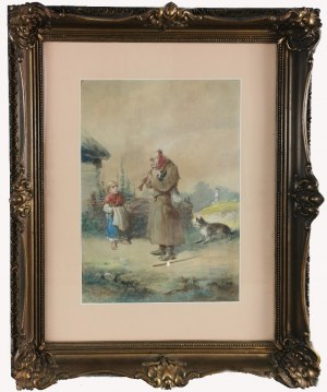 Franciszek KOSTRZEWSKI (1826-1911), Scena rodzajowa, 1898