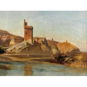 Teofil KWIATKOWSKI (1809-1891) - przypisywany, Pejzaż z wieżą