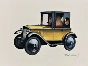 Bohdan WRÓBLEWSKI (1931-2017), Stare samochody, lata 90. XX w.