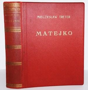 TRETER MIECZYSŁAW - MATEJKO. OSOBOWOŚĆ ARTYSTY, TWÓRCZOŚĆ, FORMA I STYL, 1939