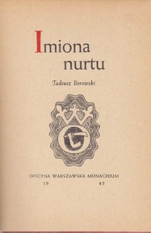 BOROWSKI TADEUSZ - IMIONA NURTU