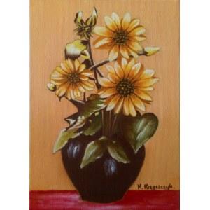 Krystyna Krzyszczyk (ur. 1959), Kwiaty w wazonie, 2020