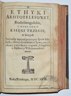 (ARISTOTELES), Ethyki Arystotelesowej to iest iako się każdy ma na świecie rządzić z dokładem ksiąg dziewięciorga.
