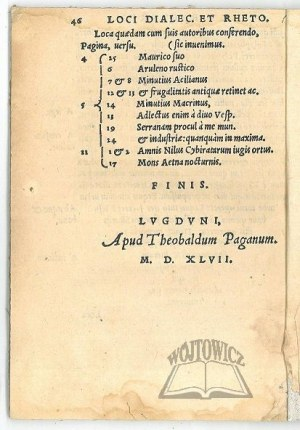 (HEGENDORFER Krzysztof), Methodus conscribendi Epistolas, per Christoph. Hegendorphinum.