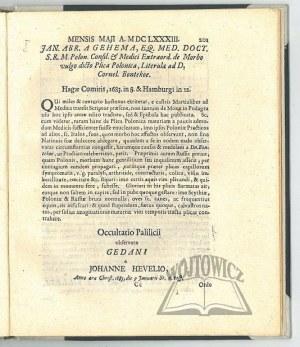 (HEWELIUSZ Jan), Acta Eruditorum anno MDCLXXXIII publicata [...].