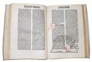 (MIKOŁAJ Z Błonia), Tractatus sacerdotalis de sacrementis deq[ue] divinis officiis et eoru[m] administrationibus.