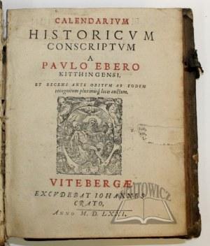 EBER Paul, Calendarium historicum conscriptum.