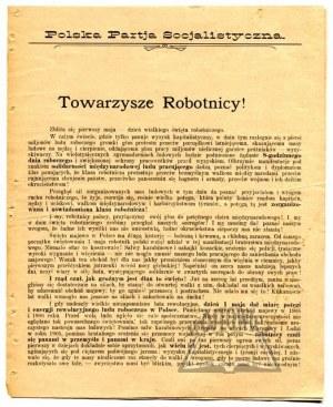 POLSKA Partja Socjalistyczna. Towarzysze Robotnicy!