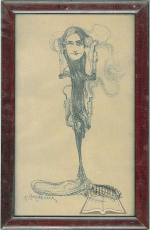 WOJTKIEWICZ Witold (1879-1909), Jadwiga Mrozowska jako Psyche w sztuce Jerzego Żuławskiego Eros i Psyche.