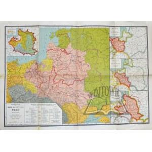 (POLSKA). Heck Walerjan - Mapa historyczna Polski.
