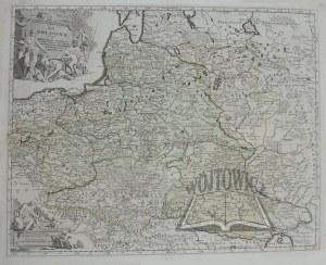 (POLSKA). La Pologne divisee en Royaume de Pologne et les etats y apartenans, La Pologne Prussienne, Autrichienne & Russienne.