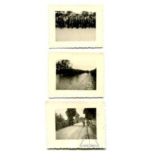 WOJNA 1939 r. Jeńcy polscy w Radomiu.