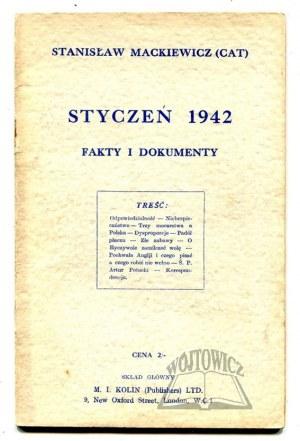 MACKIEWICZ (Cat) Stanisław, Styczeń 1942. Fakty i dokumenty.