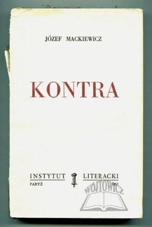 MACKIEWICZ Józef, Kontra.