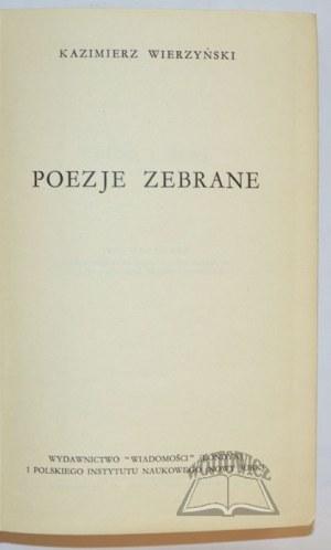 WIERZYŃSKI Kazimierz, Poezje zebrane.