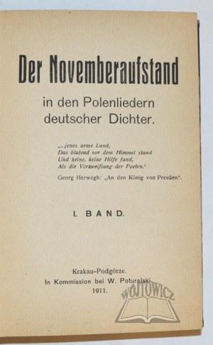 LEONHARD Stanisław, Der Novemberaufstand in den Polenliedern deutscher Dichter.