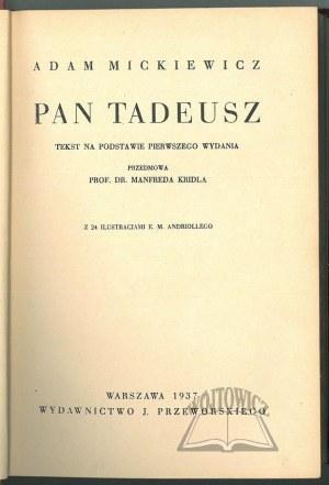 MICKIEWICZ Adam, Pan Tadeusz.