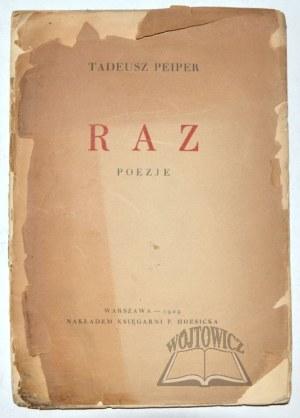 PEIPER Tadeusz, Raz. Poezje.