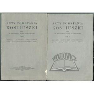 AKTY Powstania Kościuszki.