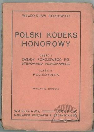 BOZIEWICZ Władysław, Polski kodeks honorowy.