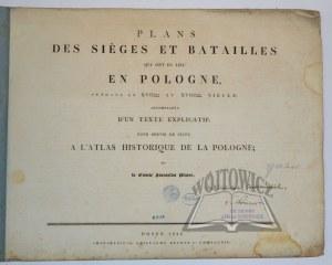 PLATER Stanislas, Plans des sieges et batailles qui ont eu lieu en Pologne.
