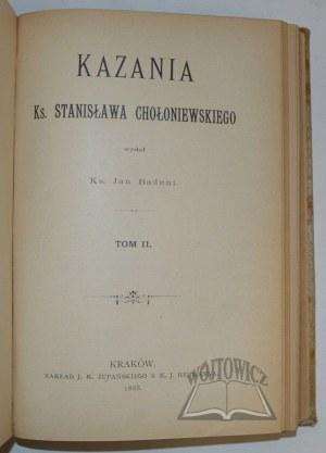 CHOŁONIEWSKI Stanisław ks., Kazania.