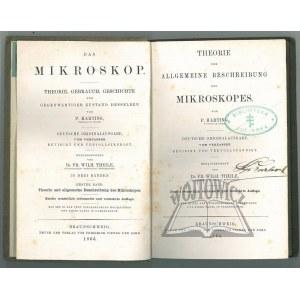 (BIBLIOTEKA Julińska). HARTING P. - Das Mikroskop. Theorie, Gebrauch, Geschichte und gegenwaertiger Zustand desselben von...