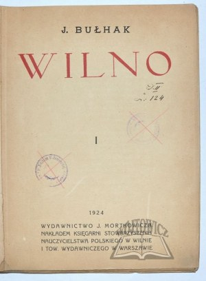 BUŁHAK J(an), Wilno.