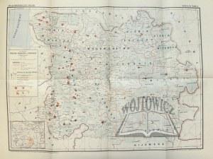 JAKUBOWSKI Jan, Mapa Wielkiego Księstwa Litewskiego w połowie XVI wieku.