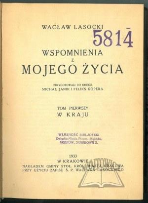 LASOCKI Wacław, Wspomnienia z mojego życia.