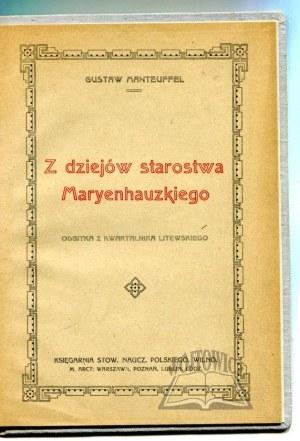 MANTEUFFEL Gustaw, Z dziejów starostwa Maryenhauzkiego.
